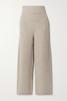 LAUREN MANOOGIAN + Net Sustain Miter Alpaca Wide-leg Pants - Beige