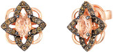Thumbnail for your product : LeVian Chocolatier 14K Rose Gold 0.94 Ct. Tw. Diamond & Morganite Studs