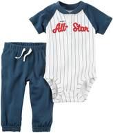 Carter's Baby Boys Bodysuit Pant Sets 121h152, White, Newborn Baby