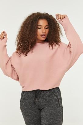 Ardene Plus Size Ribbed Dolman Sweater