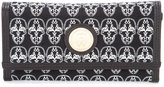Thomas Wylde skulls envelope clutch - women - Cotton/Leather - One Size