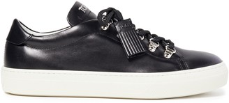 Tod's Embroidered Leather Sneakers