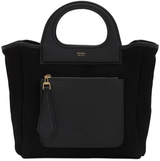 Max Mara Extrasmall Grace Shearling & Leather Bag