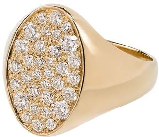 Dru 14K yellow gold Galaxy diamond signet ring