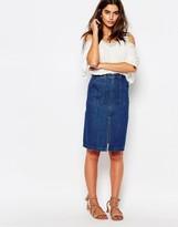 Pull&Bear Denim Zip Front Pencil Skirt