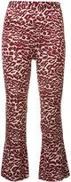 Piamita printed cropped trousers - women - Silk/Spandex/Elastane - XS