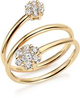 Bloomingdale's Diamond Triple Row Flower Ring in 14K Yellow Gold, .45 ct. t.w. - 100% Exclusive