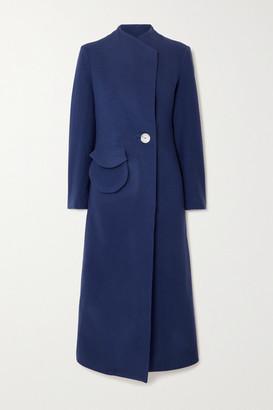 USISI SISTER Natasha Wool-felt Coat - Cobalt blue