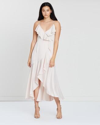 Shona Joy Women's Neutrals Midi Dresses - Luxe Bias Frill Wrap Dress - Size 6 at The Iconic