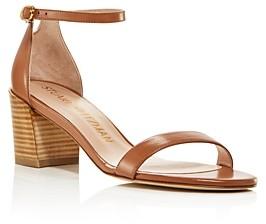 Stuart Weitzman Women's Ankle Strap Block-Heel Sandals