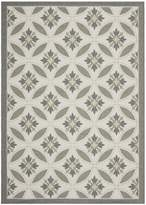 """Safavieh Courtyard Collection CY7844-78A21 and Anthracite Indoor/ Outdoor Area Rug, 6 feet 7 inches by 9 feet 6 inches (6'7"""" x 9'6"""")"""