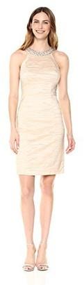 Brinker & Eliza Women's Fitted Dress with Beaded Neckline (Regular & Petite)