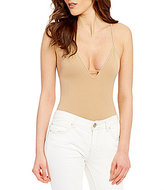 Free People Move Along Deep V-Neck Sleeveless Bodysuit