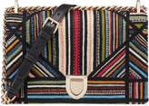 Christian Dior Diorama Shoulder Bag Embroidered Black Multicolor