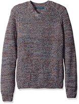 Perry Ellis Men's Texture V-Neck Sweater