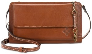 Patricia Nash Azario Smooth Leather Crossbody Organizer Wallet