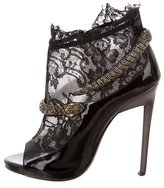 Roberto Cavalli Patent Leather Embellished Booties