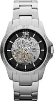JCPenney RELIC Relic Mens Silver-Tone Automatic Skeleton Watch ZR12013