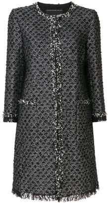 Andrew Gn metallic collarless coat