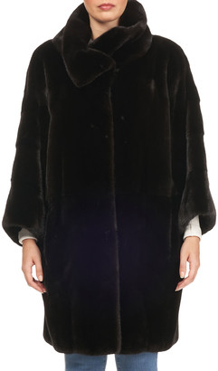 Gorski Funnel-Collar Mink Fur Coat
