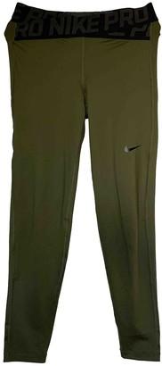 Nike Khaki Spandex Trousers for Women