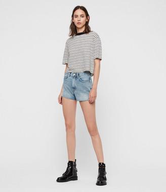 AllSaints Paula High-Rise Denim Shorts