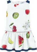 MonnaLisa Printed dress with cabochons