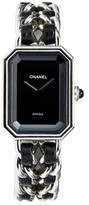 Chanel Vintage Black & Silver Premiere Watch, 20mm