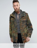 Reclaimed Vintage Revived Military Parka In Camo