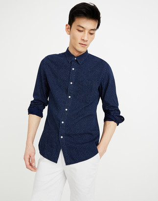 Madewell Button-Down Workshirt in Indigo Dots