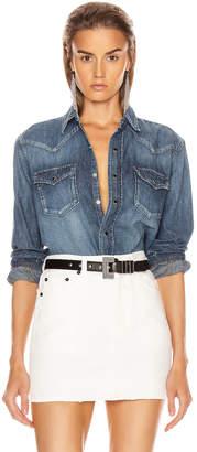 Saint Laurent Classic Western Shirt in Vintage Blue | FWRD