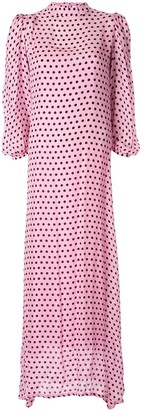 Olivia Rubin Polka Dot Print Dress
