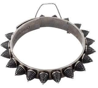 Eddie Borgo Crystal Cone Choker Necklace