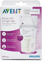Avent Naturally Breast Milk Storage Bags - 25 Count
