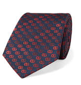 Gucci 7.5cm Dégradé Embroidered Silk-Faille Tie