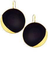 Lana 14k Jet Black Disc Earrings