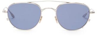 Jacques Marie Mage Harcourt Double-bridge Round Titanium Sunglasses - Silver