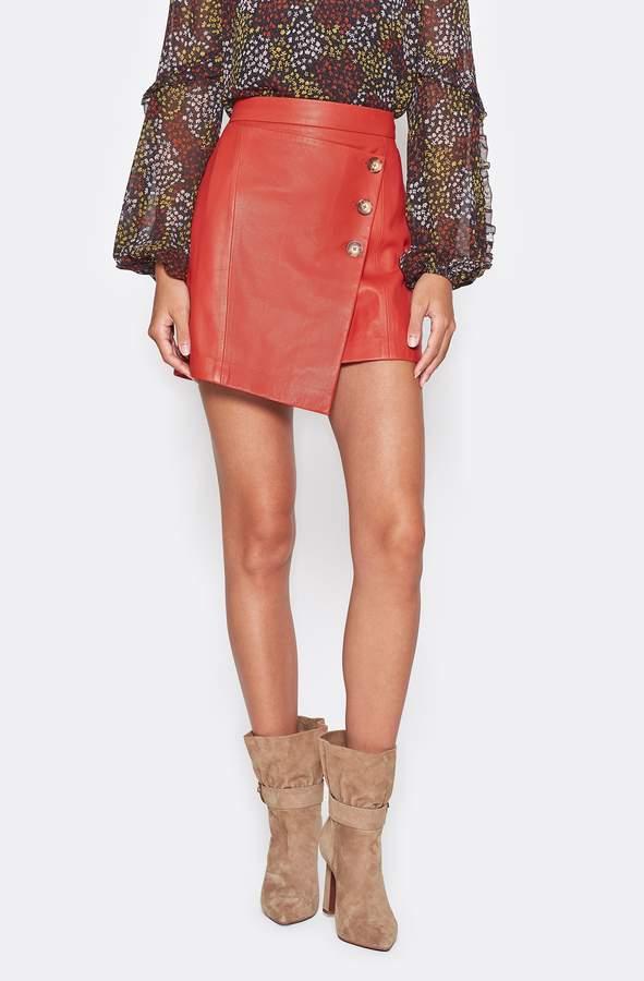 Joie Eberta Leather Skirt
