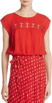 Band of Gypsies Crochet-Inset Top