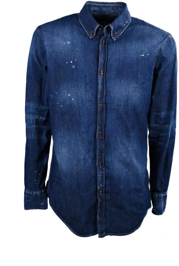 DSQUARED2 2 Washed Effect Denim Shirt