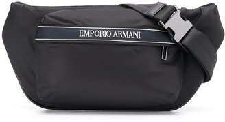 Emporio Armani Logo Embroidered Belt Bag