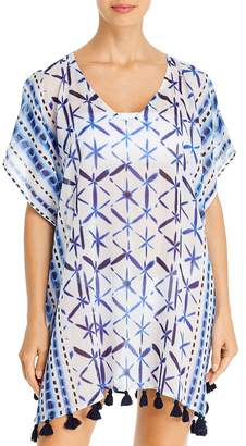 Echo Shibori Tassel Caftan Swim Cover-Up