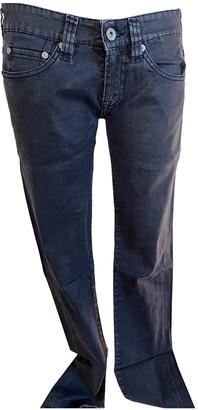 Evisu Grey Cotton Trousers for Women Vintage