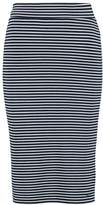 Tom Tailor STRIPE TUBE Pencil skirt sky captain blue
