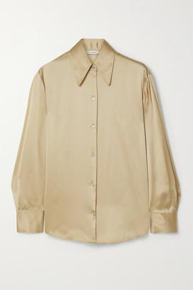 Vince Silk-satin Shirt - Beige
