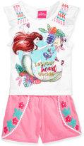 Disney Disney's® The Little Mermaid Print 2-Pc. Tank Top & Shorts Set, Toddler & Little Girls (2T-6X)