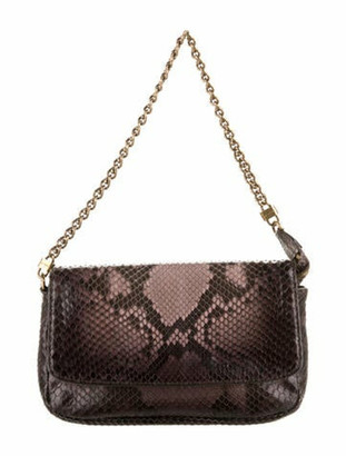 Louis Vuitton Python Chain Pochette Black