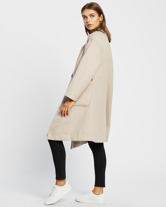 Atmos & Here Atmos&Here - Women's Neutrals Winter Coats - Vanessa Wool Blend Coat - Size 12 at The Iconic