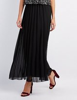Charlotte Russe Woven Pleated Maxi Skirt