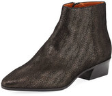 Aquatalia Fire Metallic Pebbled Ankle Boot